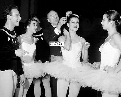 George Balanchine with Carla Fracci and Dancers During a Ballet Rehearsal Photo