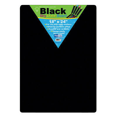 Flipside Black Dry Erase Boards 18 X 24