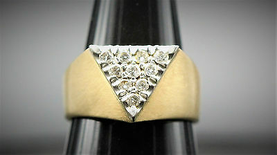 14k Gold and 10 Diamond Fine Ring Size 9 1/4
