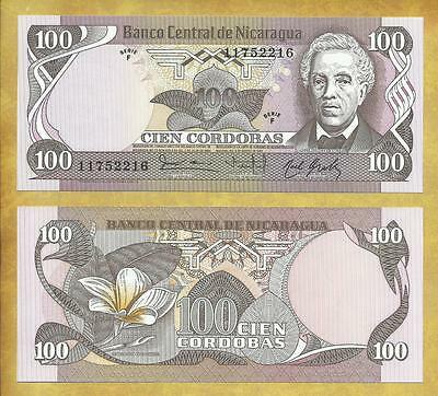 Nicaragua 100 Cordobas 1984 P-141 Unc Currency Banknote ***USA SELLER***