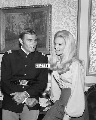 Adam West and Linda Evans in the Television Series 'The Big Valley' Photo