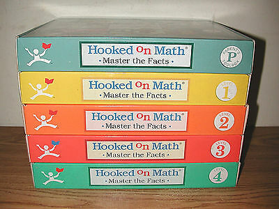 1999 Hooked On Math Master The Facts Lesson Series Levels 1-4 + Parent's Toolbox