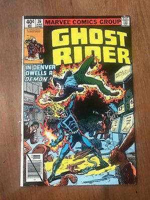 GHOST RIDER #36 In Denver Dwells a Demon! Marvel Comic Book ~ NM-