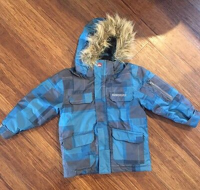 Quicksilver Kids Snow Jacket Size 4/5