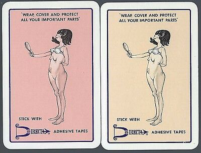 Vintage Playing Swap Cards Advertising Adhesive Tapes