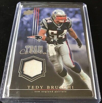 2008 Upper Deck Tedy Bruschi Jersey Card Team Colors New England Patriots