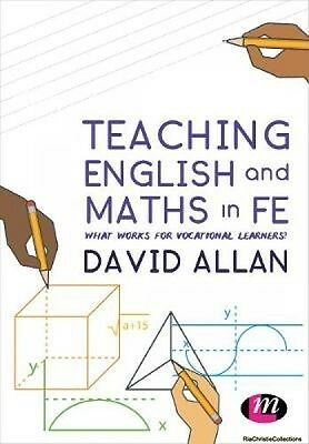 Teaching English and Maths in FE David Allan Paperback NEW Book