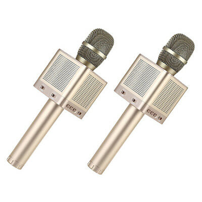 2pcs MicGeek Q10S Wireless Microphone Gold 4 Speakers For Car Music Player Phone
