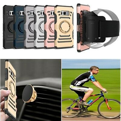 Sports Magnetic Running PC+TPU Armband Case Cover For Samsung S7/edge S8/Plus