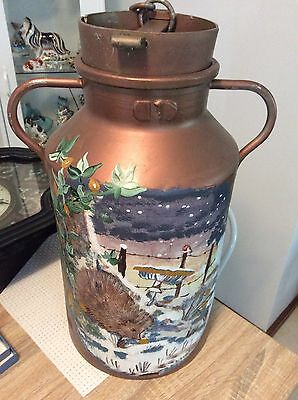 French Vintage Milk Churn  With Lid Impress Stamp
