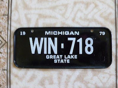 Vintage 1979 POST CEREAL MICHIGAN STATE Mini Bicycle LICENSE PLATE