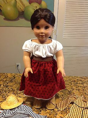 American Girl Doll Josefina With Three Outfits And Accessories