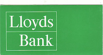 Vintage Brochure & Travellers cheque Twenty Pounds 20 £ Lloyds Bank