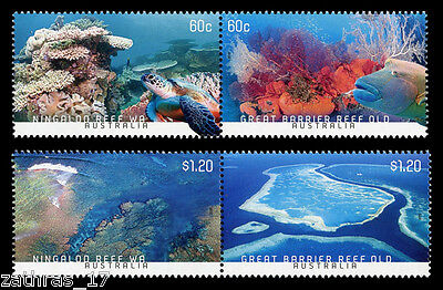 2013 Australia's Coral Reefs -  Set of 4 Stamps MUH