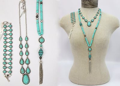 Lucky Brand Turquoise Pave Collar Tassel Necklace U Pick