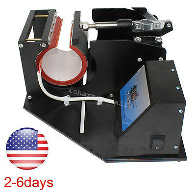110V Dual Digital Heat Press Transfer Sublimation Machine for Cup Coffee Mug US