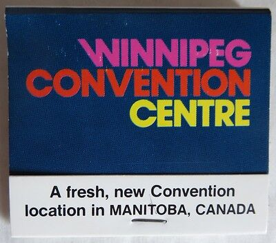 Vintage Unused Winnipeg Convention Centre Matchbook             (Inv13631)