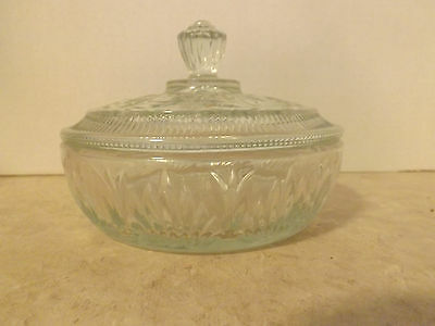 Clear Avon Candy Dish with Lid.