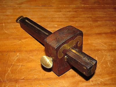 Stanley Made Marking Gauge, Single & Double Pins, Rosewood & Brass, Mortise Gage