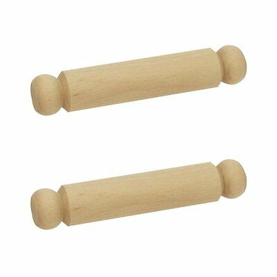 Bigjigs Toys Small Wooden Rolling Pin Pack of 2 - Play Kitchen Set and