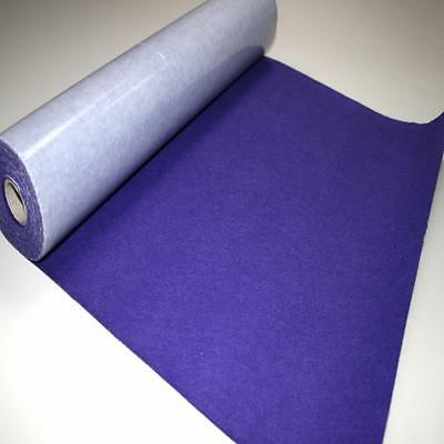BS EN 71 PURPLE Sticky Self Adhesive Felt Baize Fabric Mini 5m Rolls UK MADE