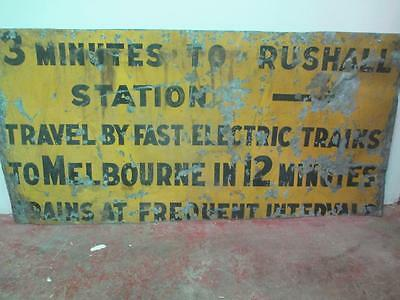 Sign, Victorian Railways, Rushall Station, vintage