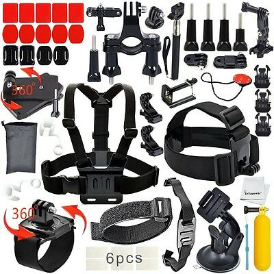 40-in-1 Essentials Accessories Kit GoPro Hero 5/4/3/2/1 Session Hero Mount Black