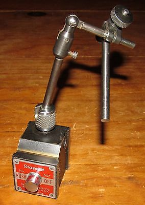 Starrett No 657 Magnetic Base Indicator Holder Machinist Metalwork Woodworking