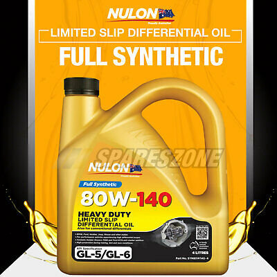 Full Synthetic 80W-140 HD Limited Slip Differential Oil 4L ISUZU D-MAX 4WD