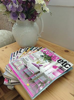 Living etc Bundle Stack Collection 10 Magazines Collect GL3