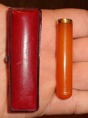 60mm Antique Baltic Amber Cigarette Holder Pipe Fume Cigare Ancien Bernstein