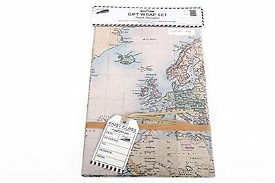 World map design gift wrap wrapping tags present sheets wrapping 2 x sheets gift wrap wrapping paper tags map design birthday fathers day gumiabroncs Gallery