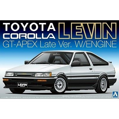 1/24 AOSHIMA 005225 AE86 COROLLA LEVIN AT-APEX '85 Plastic Model Car Kit