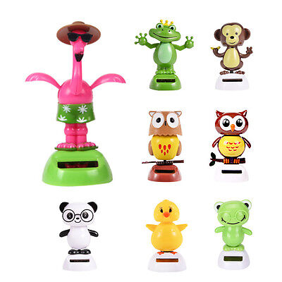 Hot Solar Powered Dancing Animal Swinging Animated Bobble Dancer Toy Car Decor