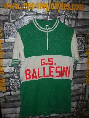 Vintage Cycling jersey shirt '70s wool mix embroidery  maglia bici ciclismo