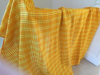 Vintage 1970s Curtains/Fabric-Pair-VGC-Orange