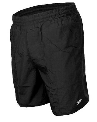 New Mens SPEEDO SOLID LEISURE SWIM SWIMMING SHORTS TRUNKS WATER SHORT BLACK NAVY