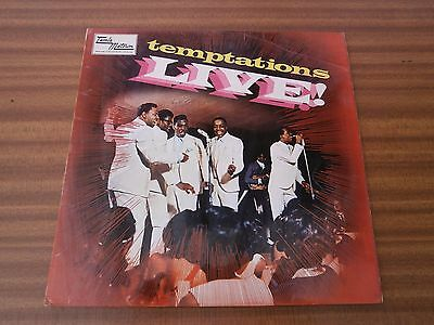 Temptations Live! Tamla Motown - STML 11053 - This is just the COVER