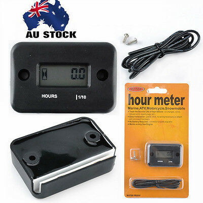 PREMIUM Hour Meter ATV Motorcycle Dirt Ski Mower Boat Bike Engine Digital LCD