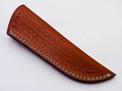"Custom-Handmade-Textured-8""leather-Sheath-For-5.5""fixed-Blade-Knife - Ls-13"