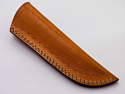 "Custom-Handmade-Textured-8""leather-Sheath-For-5.5""fixed-Blade-Knife - Ls-16"