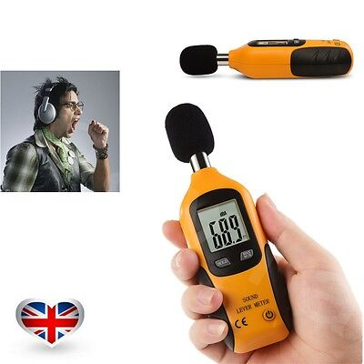 Digital Sound Pressure Tester Level Meter 40-130dB Decibel Noise Measurement Hot