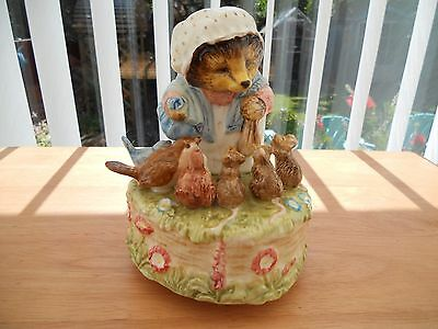 Beatrix Potter musical Figurine.