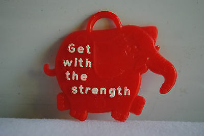 Vintage Commonwealth Bank Red Elephant Trinket Charm Get With The Strength