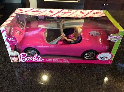 Barbie Corvette Covertible  Remote Control With Barbie Nib