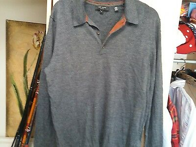 Ted Baker Mens Jumper 100% Merino Wool  Size Large/size 4