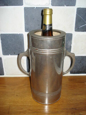 Antique English chromed water filled wine / champagne  cooler