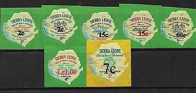 SIERRA LEONE 1964/66 3rd Issue Self Adhesive JFK Stamps 7 values MNH