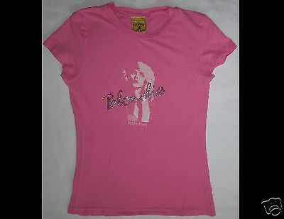BLONDIE Debbie Harry Junior Size Pink T-Shirt