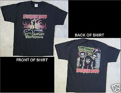 GREEN DAY 21st Century Breakdown Size Large Black T-Shirt